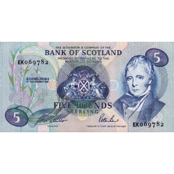 Ecosse - Pick 116b - 5 pounds sterling - 06/1/1991 - Etat : NEUF