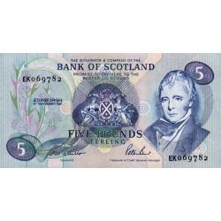 Ecosse - Pick 116b - 5 pounds sterling - 06/1/1991 - Etat : NEUF