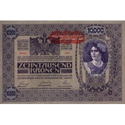 Autriche - Pick 65 - 10'000 kronen - 1919 - Etat : TTB+