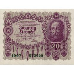 Autriche - Pick 76 - 20 kronen - 02/01/1922 - Etat : pr.NEUF