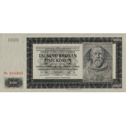 Bohême-Moravie - Pick 15 - 1'000 korun - 24/10/1942 - Série Ea - Etat : SPL+