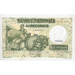 Belgique - Pick 106_5 - 50 francs ou 10 belgas - 1944 - Etat : SPL+