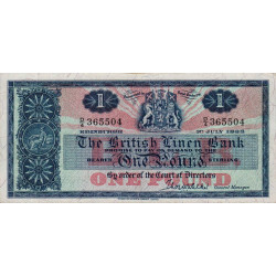 Ecosse - Pick 166c - 1 pound sterling - 1963 - Etat : TTB à TTB+