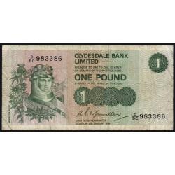 Ecosse - Pick 204c - 1 pound - 31/01/1979 - Etat : TB