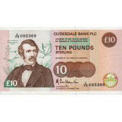 Ecosse - Pick 214 - 10 pounds sterling - 09/11/1990 - Etat : SUP+