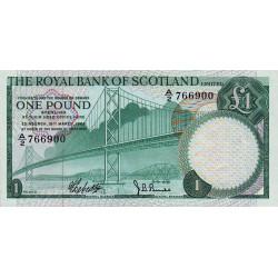 Ecosse - Pick 329 - 1 pound sterling - 19/03/1969 - Etat : NEUF