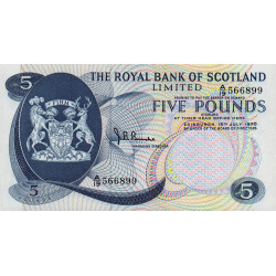 Ecosse - Pick 335 - 5 pounds sterling - 15/07/1970 - Etat : NEUF