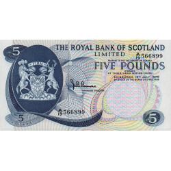 Ecosse - Pick 335 - 5 pounds sterling - 15/07/1970 - Etat : NEUF
