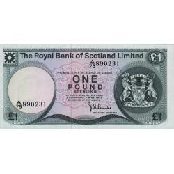 Ecosse - Pick 336 - 1 pound sterling - 01/05/1975 - Etat : NEUF