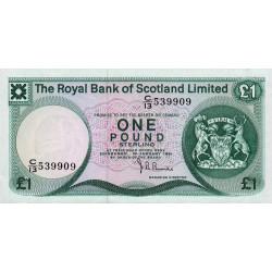 Ecosse - Pick 336 - 1 pound sterling - 10/01/1981 - Etat : NEUF