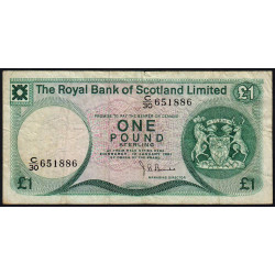 Ecosse - Pick 336 - 1 pound sterling - 10/01/1981 - Etat : TB