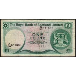 Ecosse - Pick 336 - 1 pound sterling - 1981 - Etat : TB