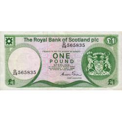 Ecosse - Pick 341Aa - 1 pound sterling - 01/05/1986 - Etat : TTB