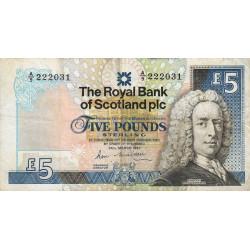 Ecosse - Pick 347 - 5 pounds sterling - 1987 - Etat : TB