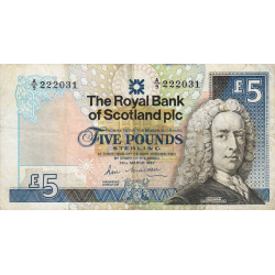 Ecosse - Pick 347 - 5 pounds sterling - 25/03/1987 - Etat : TB