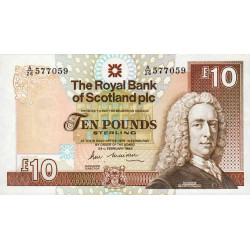 Ecosse - Pick 348 - 10 pounds sterling - 24/02/1988 - Etat : SPL