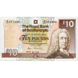 Ecosse - Pick 348 - 10 pounds sterling - 24/01/1990 - Etat : SPL+