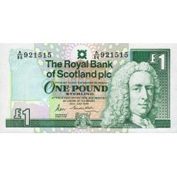 Ecosse - Pick 351a - 1 pound sterling - 26/07/1989 - Etat : NEUF