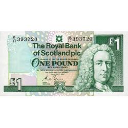 Ecosse - Pick 351b - 1 pound sterling - 24/07/1991 - Etat : NEUF