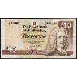 Ecosse - Pick 353a - 10 pounds sterling - 24/02/1993 - Etat : TB+