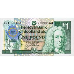 Ecosse - Pick 356 - 1 pound sterling - 1992 - Commémoratif - Etat : NEUF