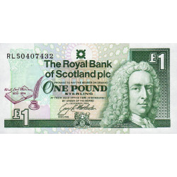 Ecosse - Pick 358 - 1 pound sterling - 1994 - Commémoratif - Etat : NEUF