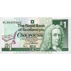 Ecosse - Pick 358 - 1 pound sterling - 3/12/1994 - Commémoratif - Etat : NEUF