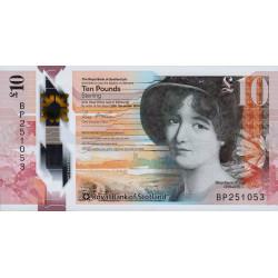 Ecosse - Pick 371 - 10 pounds sterling - 2016 - Polymère - Etat : NEUF