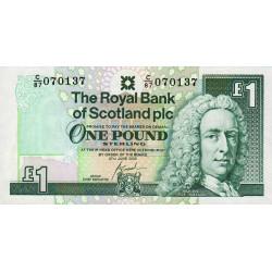 Ecosse - Pick 351e - 1 pound sterling - 27/06/2000 - Etat : NEUF