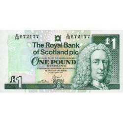 Ecosse - Pick 351e - 1 pound sterling - 01/10/2001 - Etat : NEUF