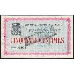 Cette (Sète) - Pirot 41-3 - 50 centimes - Série H 108 - 11/08/1915 - Annulé - Etat : SUP