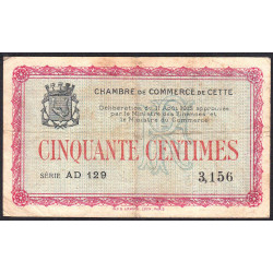 Cette (Sète) - Pirot 41-4 - 50 centimes - 1915 - Etat : TB-