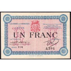 Cette (Sète) - Pirot 41-5 - 1 franc - Série 114 - 11/08/1915 - Etat : TTB
