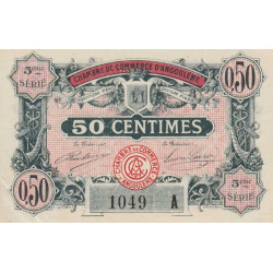 Angoulême - Pirot 9-40 - 50 centimes - 5ème série A - 11/04/1917 - Etat : SPL