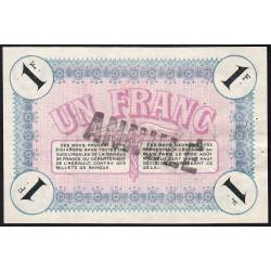 Cette (Sète) - Pirot 41-8b - 1 franc - Annulé - 1915 - Etat : SUP