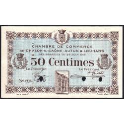Chalon-sur-Saône / Autun / Louhans - Pirot 42-2 - 50 centimes - Série 210 - 27/06/1916 - Spécimen - Etat : SUP+