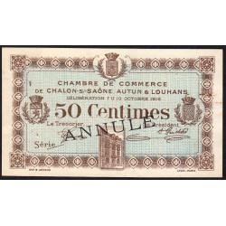 Chalon-sur-Saône / Autun / Louhans - Pirot 42-9 - 50 centimes - Sans série - 27/06/1916 - Annulé - Etat : SUP