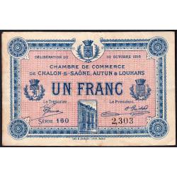 Chalon-sur-Saône / Autun / Louhans - Pirot 42-10 - 1 franc - Série 160 - 27/06/1916 - Etat : SPL+