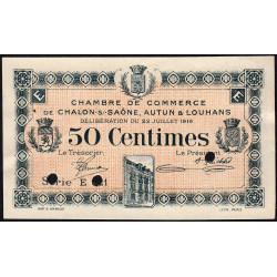 Chalon-sur-Saône / Autun / Louhans - Pirot 42-21 - 50 centimes - Série E 321 - 22/07/1919 - Spécimen - Etat : SUP