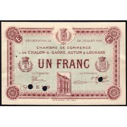 Chalon-sur-Saône / Autun / Louhans - Pirot 42-23 - 1 franc - Série 239 - 22/07/1919 - Spécimen - Etat : SUP