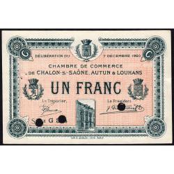 Chalon-sur-Saône / Autun / Louhans - Pirot 42-31 - 1 franc - Série G 3.4 - 07/12/1920 - Spécimen - Etat : SUP
