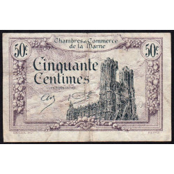 Châlons-sur-Marne / Epernay / Reims - Pirot 43-1 - 50 centimes - 1920 - Etat : TB+