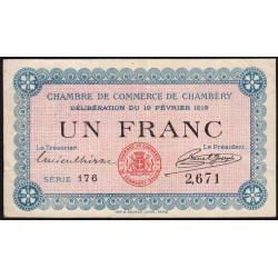Chambéry - Pirot 44-5 - 1 franc - Série 176 - 19/02/1916 - Etat : TTB