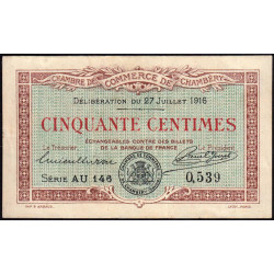 Chambéry - Pirot 44-8 - 50 centimes - 1916 - Etat : TTB