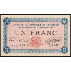 Chambéry - Pirot 44-05 - 1 franc - Etat : SUP+
