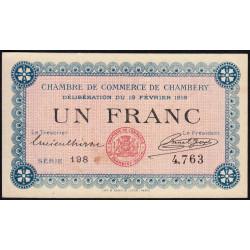 Chambéry - Pirot 44-5 - 1 franc - Série 198 - 19/02/1916 - Etat : SUP+