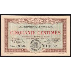 Chambéry - Pirot 44-11 - 50 centimes - Série N 164 - 12/04/1920 - Etat : SUP