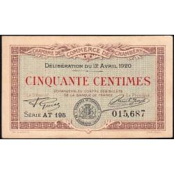 Chambéry - Pirot 44-12 - 50 centimes - 1920 - Etat : SUP
