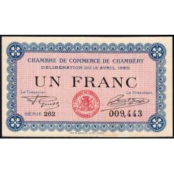 Chambéry - Pirot 44-14 - 1 franc - Série 262 - 12/04/1920 - Etat : pr.NEUF