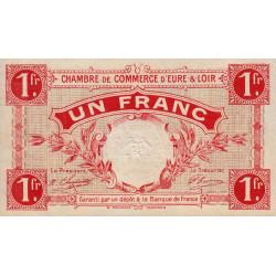 Chartres (Eure-et-Loir) - Pirot 45-3 - 1 franc - 1915 - Etat : SPL